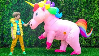 Eli meets Unicorn who sneaked into the house