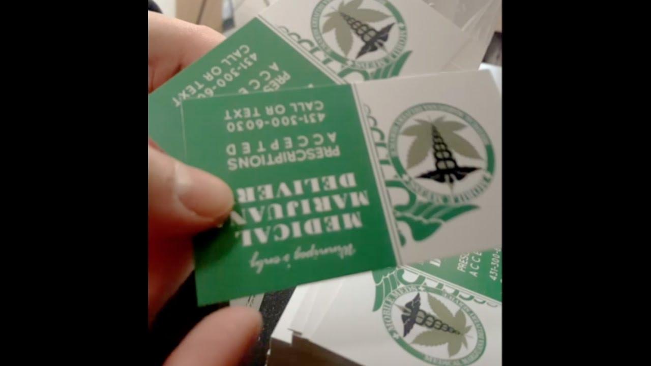 🌿 Green Business cards -🌿 Marijuana Business cards - YouTube