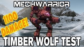 MechWarrior Online: 1100 Damage in Sloppy Custom Timber Wolf