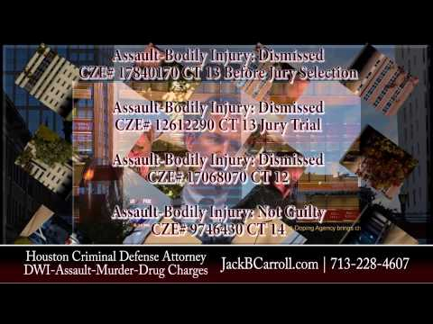 Houston Criminal Defense Attorney Jack B Carroll's Assault Case Results showing swift criminal justice in Harris County, TX.