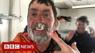 Snotsicles and snowdrifts: Extreme climate science - BBC News