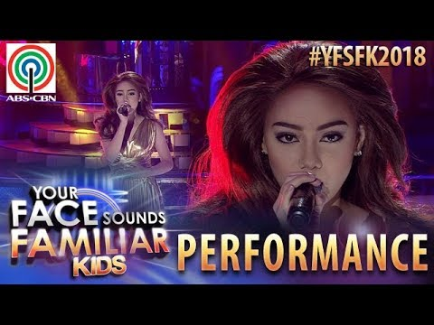 Your Face Sounds Familiar Kids 2018: Krystal Brimner as Toni Gonzaga | Catch Me I'm Falling
