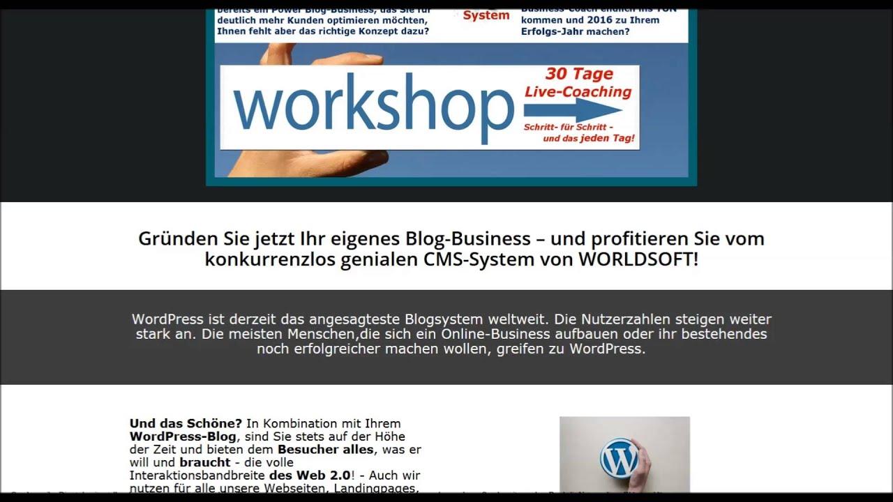 Sichern Sie sich Ihren PLATZ zum 30 Tage WorkShop zum Thema ...