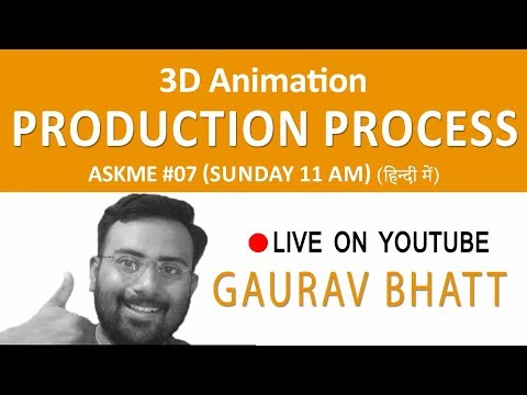 3d Animation Production Process hindi - Askme#07 Live