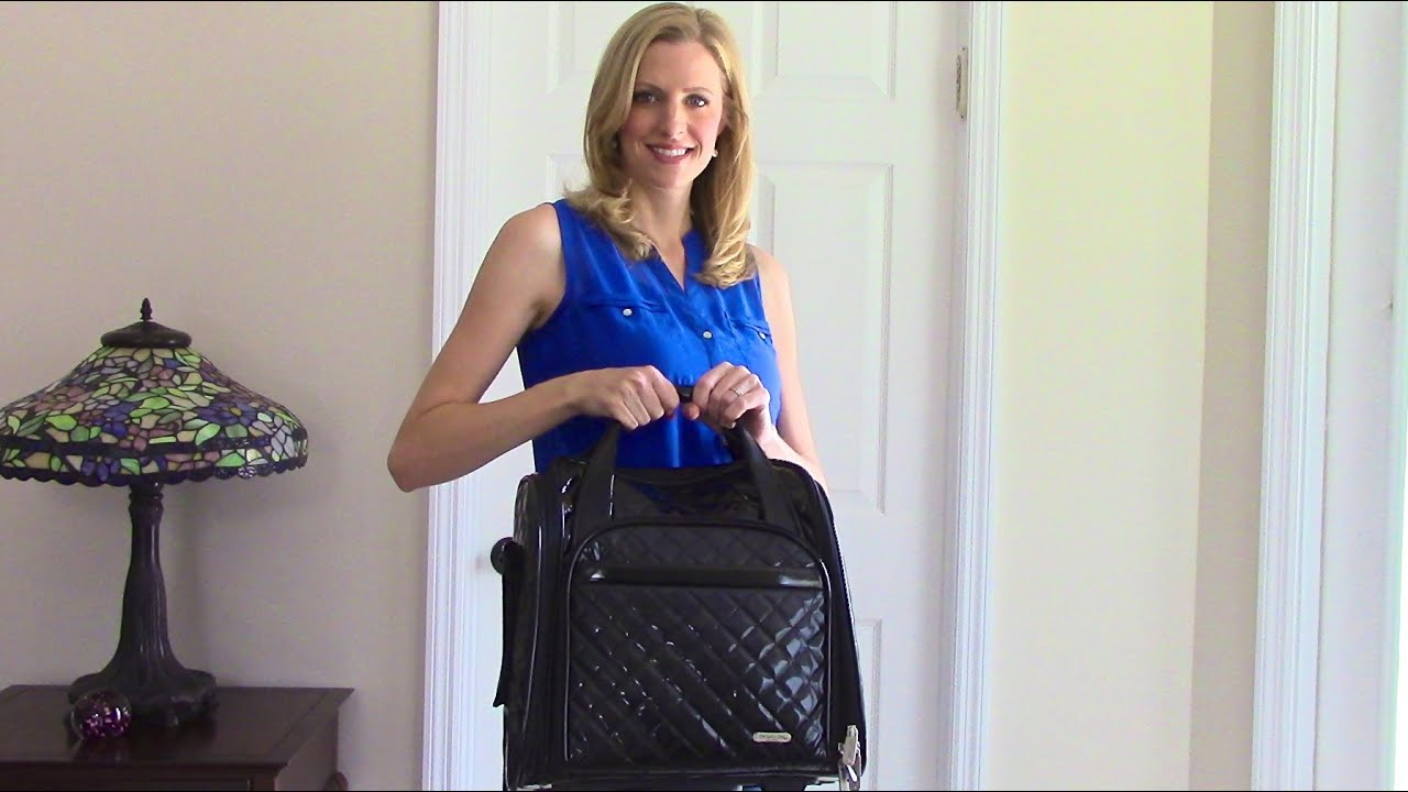 Travelon Wheeled Underseat Carry On Bag Review Youtube