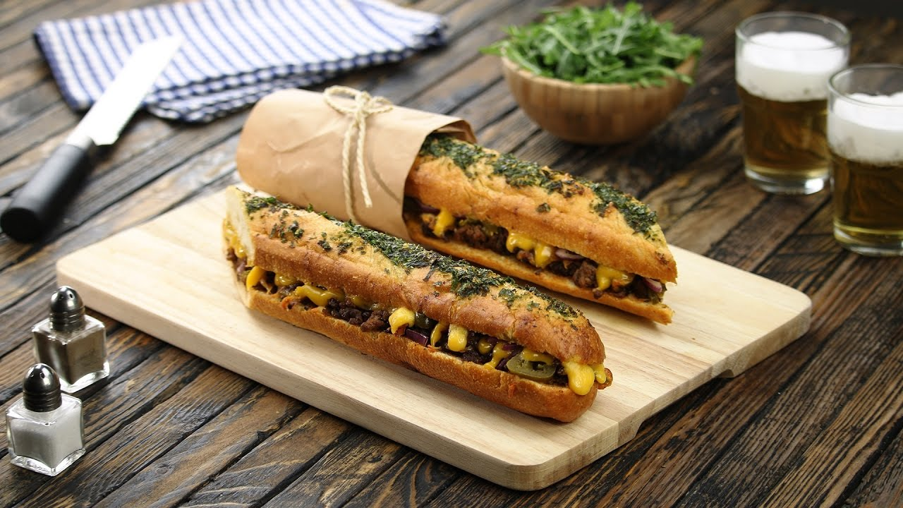 Beef BBQ Baguette – A Backyard Favorite Gets Updated - YouTube