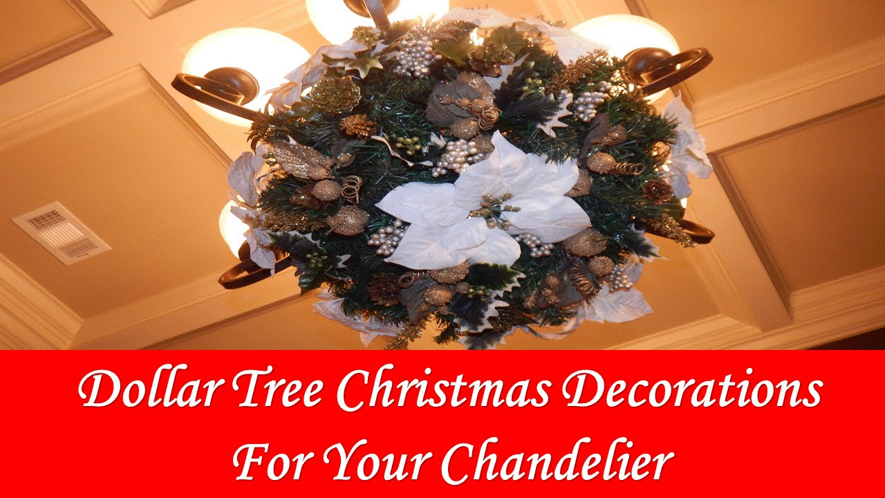 diy dollar tree christmas chandelier diy youtube - Christmas Chandelier Decorations