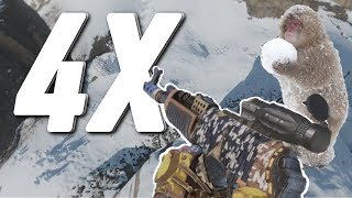 RUSTㆍSNOWBALLING in the SNOW BIOME (4X SCOPED AK)