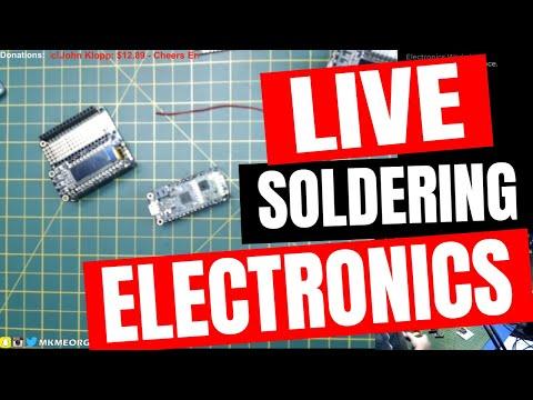 🔴 LIVE: LORA Radio Testing, Antenna Making & Soldering Stuffz