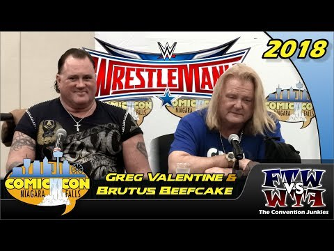 Greg The Hammer Valentine And Brutus The Barber Beefcake - Niagara Falls Comic Con 2018 Full Panel