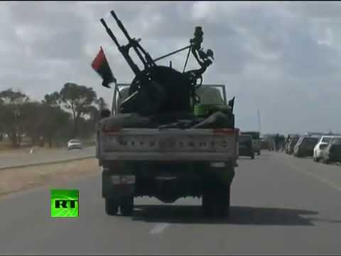 Video of night fighting in Libya, bombing aftermath, fighter jets take off