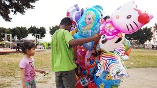Elora Beli Mainan Anak Balon Karakter Hello Kitty Dan Main Bubble