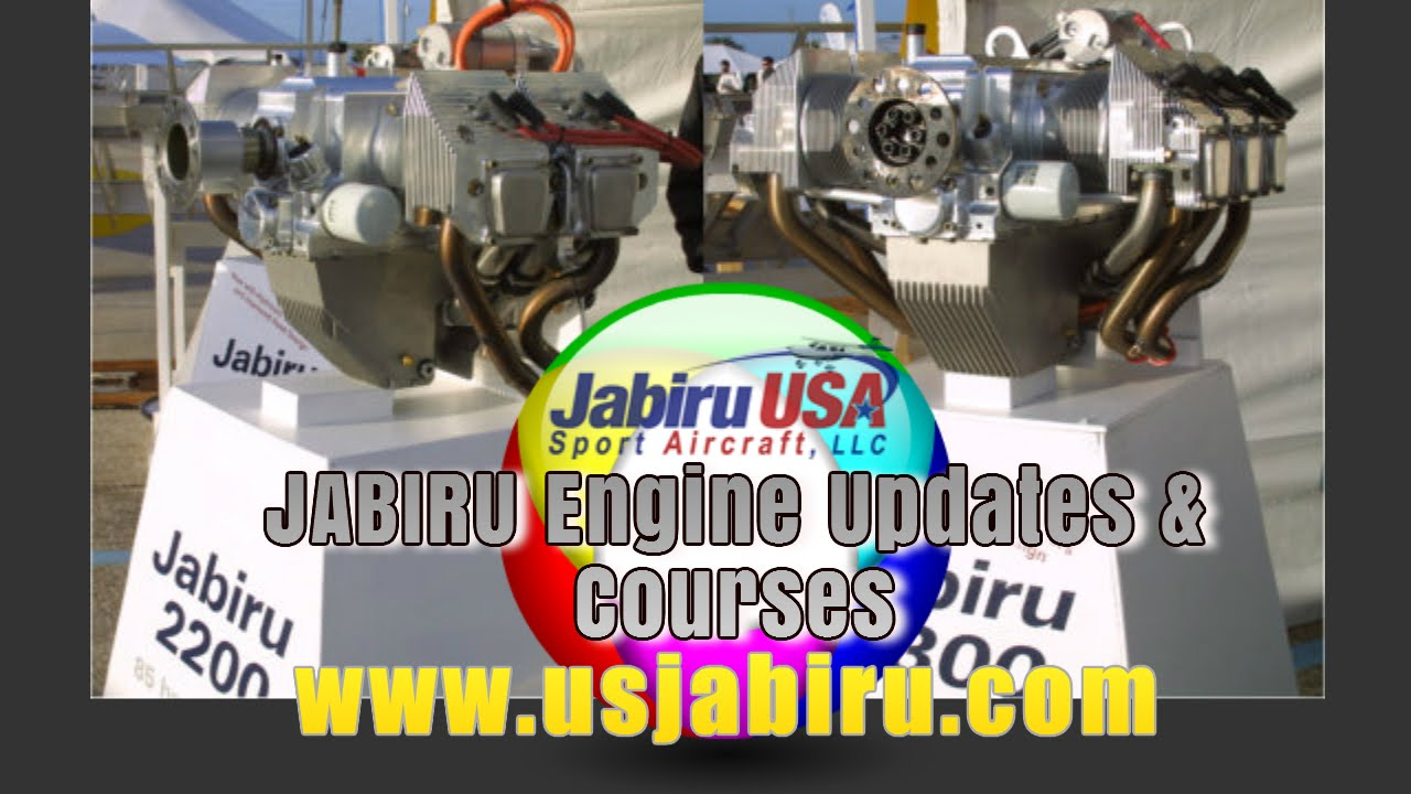Jabiru 2200 Jabiru 3300 aircraft engine updates and engine courses