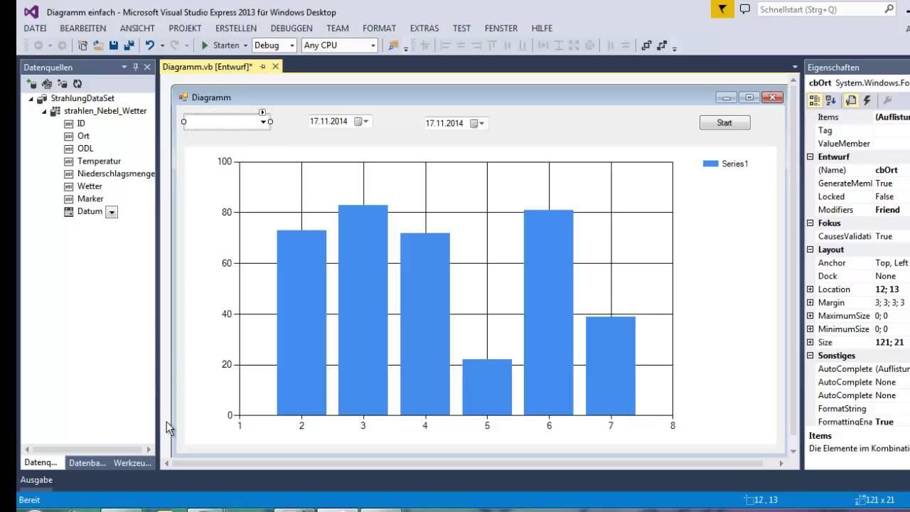 Tutorial Visual Basic Diagramm Mit Datenbank Anbindung