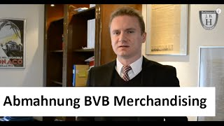 Abmahnung BVB Merchandising
