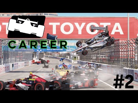 Project Cars 2 - Indycar Career #2 - Chaotic Start! - Long Beach