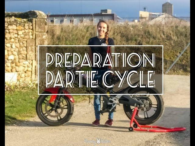 YZF R125 │ Une fille dans l'atelier : préparation partie cycle