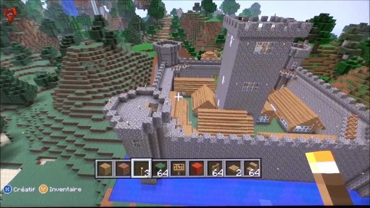 Minecraft xbox 360 le ch teau et la d co du chalet youtube - Chateau de minecraft ...