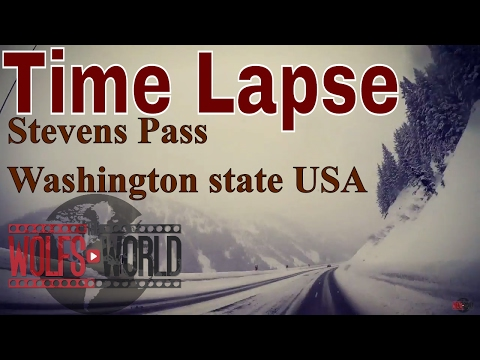 Time lapse stevens Pass Washington state USA