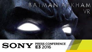 batman arkham vr official e3 2016 trailer