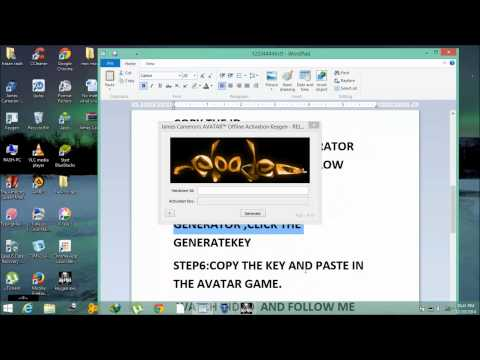 How To Activate James Cameron's Avatar - The Game&generating Key