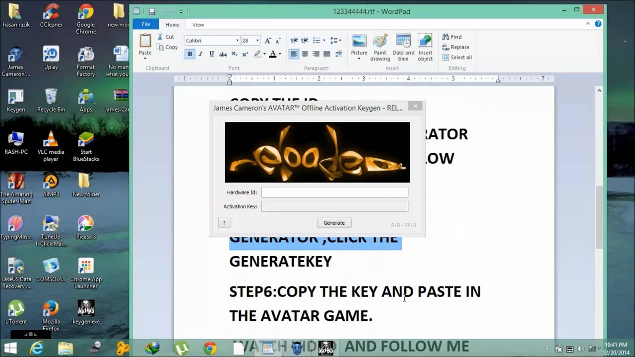 keygen for james cameron avatar the game