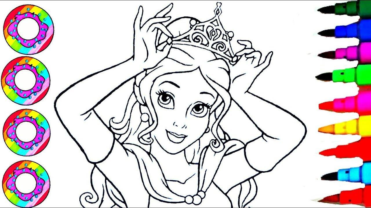 Colouring Drawings Disney Belle Princess Of Beauty N