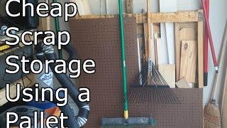 Cheap Scrap Storage Using A Pallet