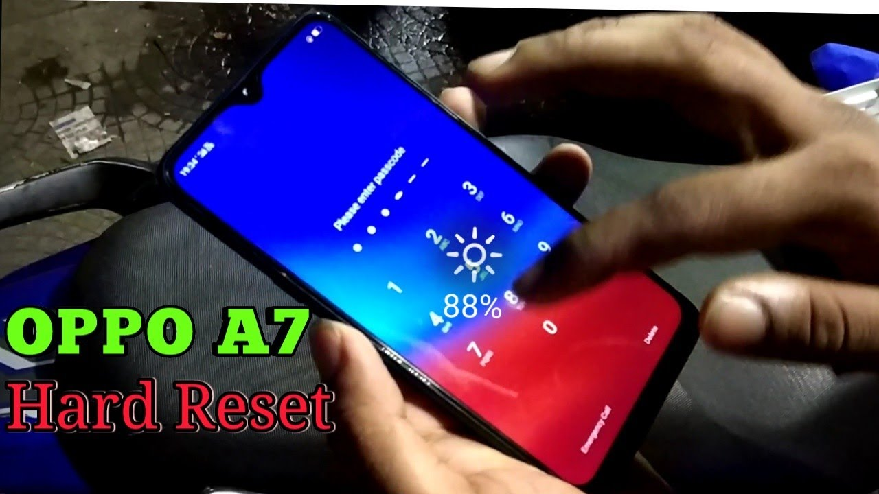 OPPO A7 Hard Reset Done