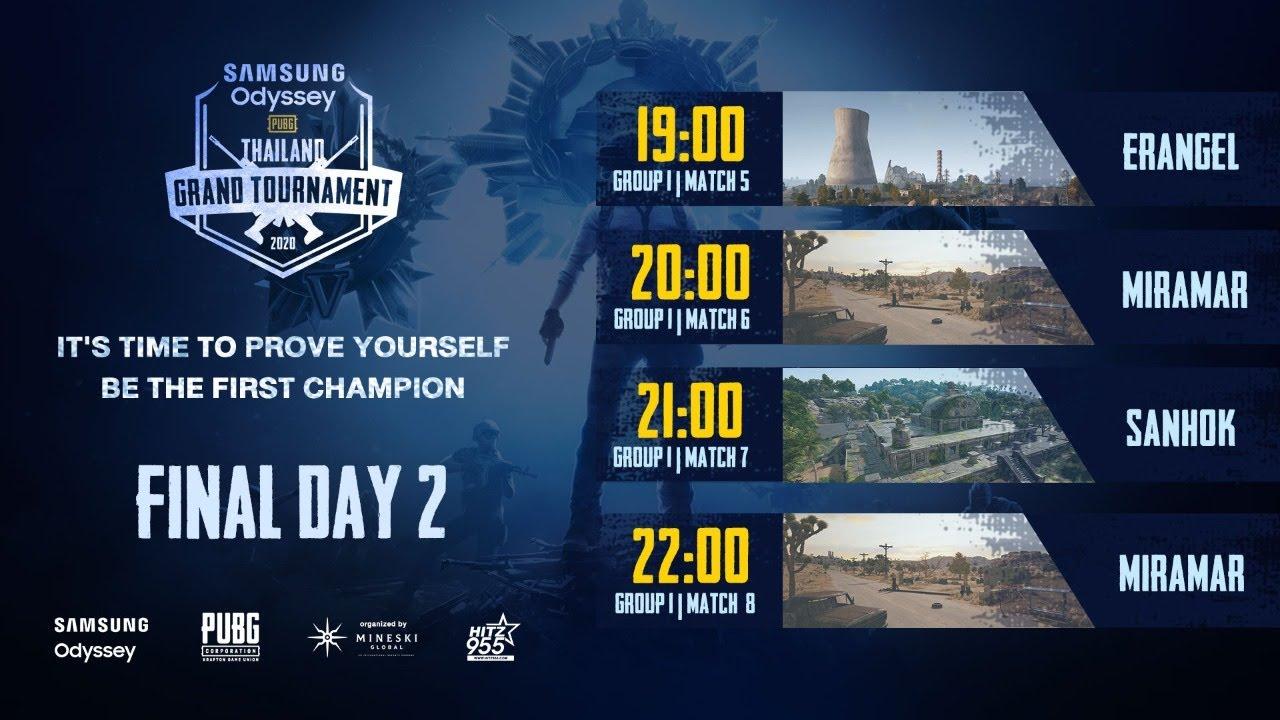 SAMSUNG Odyssey PUBG Thailand Grand Tournament 2020 รอบ Final Day 2