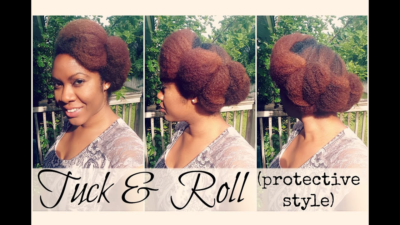 tuck and roll hair styles roll amp tuck protective hairstyle on hair 7065