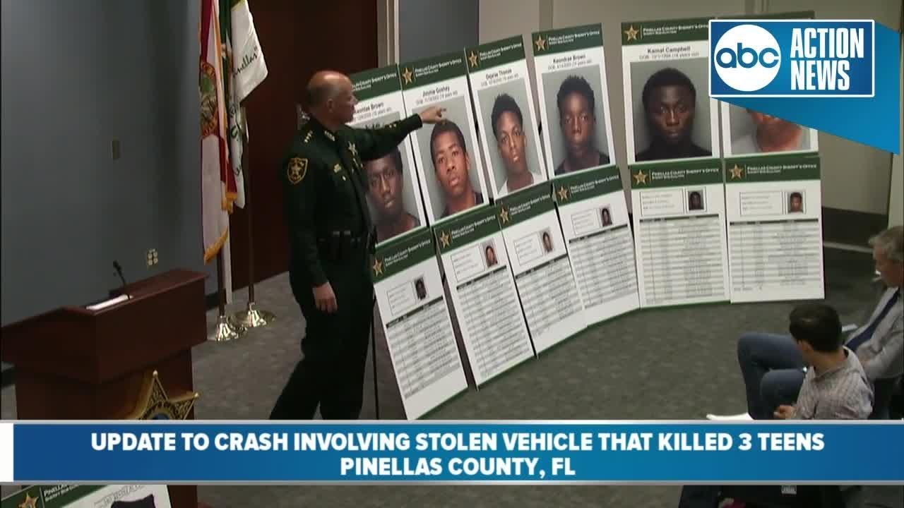 Sheriff: Three teens in stolen car die in fiery crash: Presser part 1