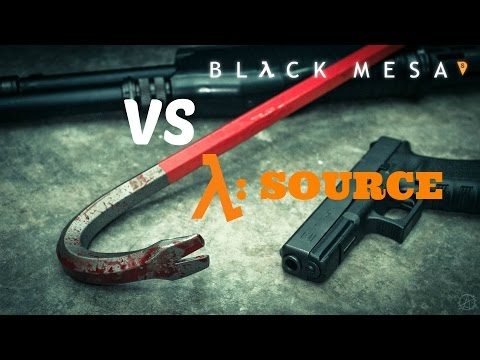 Half-Life Source VS. Black Mesa | Weapon Showcase / Comparison  HD