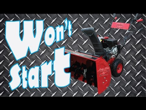 Snowblower won't start ?     Fix it quickly and easily