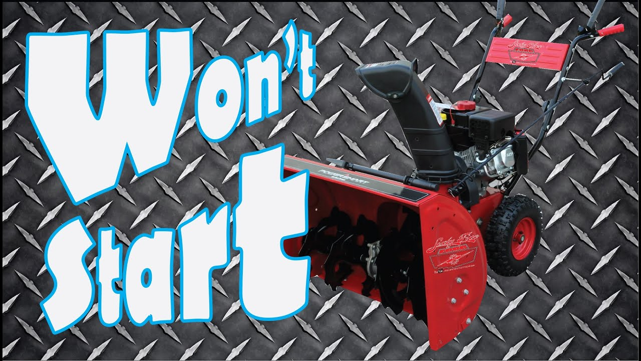 Snowblower Won T Start Fix It Quickly And Easily Youtube