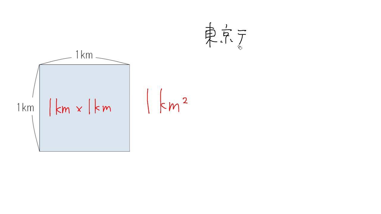 大きな面積④:平方キロメートル ...