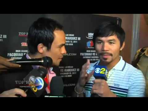Manny Pacquiao interviews Juan Manuel Marquez - Top Rank Boxing
