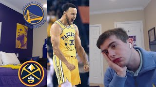 warriors hater reacts to warriors nuggets..um warriors might win it all easy. bruh...