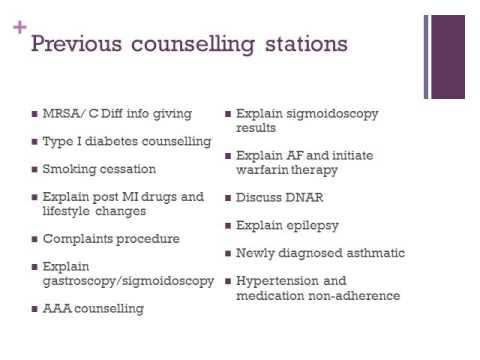 20/02/14 Explaining and counselling OSCE