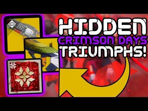 Destiny 2 - How To Earn 3 SECRET/HIDDEN Crimson Days TRIUMPHS!! thumbnail