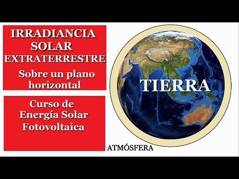 IRRADIANCIA SOLAR EXTRATERRESTRE - CURSO DE ENERGÍA SOLAR FOTOVOLTAICA