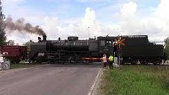Höyryveturimatkat 1009 Oy MUS 1944 passed LINNAKOSKI (km. 0329+0912) level crossing @ Imatra