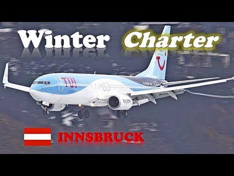 INNSBRUCK AIRPORT Plane Spotting 2018 • VERY BUSY WEEK-END • Winter Charter Flights [January 19-20]