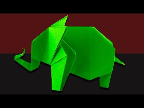 Origami Elephant: How to make a paper elephant | Fun Crafts for Kids - paper crafts ideas