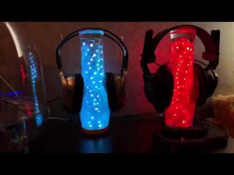 Handmade LED Light Headphone Stand