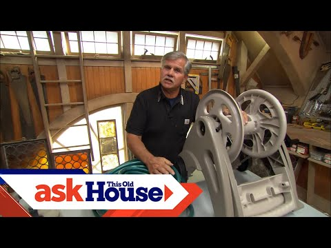 How to Reuse a Garden Hose Reel - YouTube