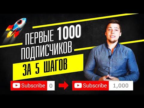 Как набрать ПЕРВУЮ 1000 Подписчиков в YouTube? Мой проверенный алгоритм