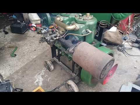 Veteran twin cylinder engine.