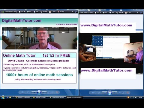 Online precalculus tutoring, ND120516