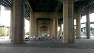 Under the Triborough Bridge